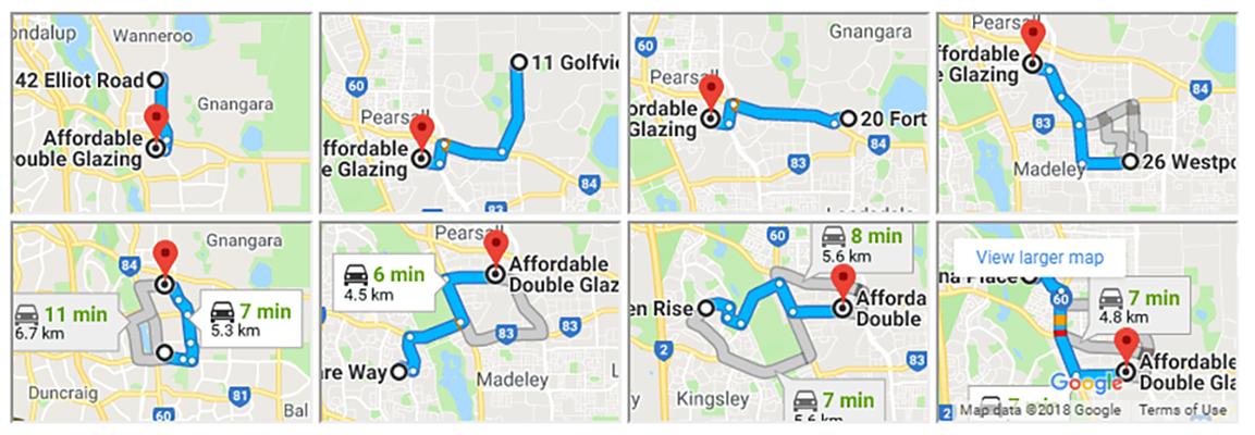 radial google maps